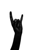 Black hands. Zombie apocalypse. Black hand isolated on white background. The zombie apocalypse Royalty Free Stock Image
