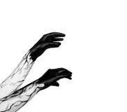 Black hands. Zombie apocalypse Royalty Free Stock Photos