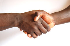 Black handshake Stock Photo