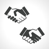 Black Handshake Vector Icon Royalty Free Stock Photography