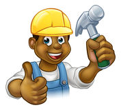 Black Handyman Cartoon Character Royalty Free Stock Images