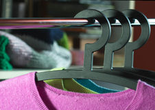 Black Hangers Royalty Free Stock Images