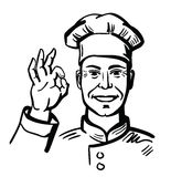 Black happy chef Stock Images