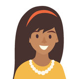 Black happy girls icon vector.Woman icon illustration Stock Image