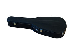 Black Hard Case for Guitar isolated Stock Photography