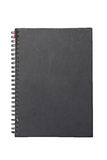Black Hard Cover Notebook With Ring Binder. Royalty Free Stock Image
