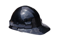 Black hard hat isolated on white Royalty Free Stock Photo