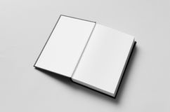 Black Hardcover Book Mock-Up - First Page Stock Images