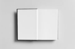 Black Hardcover Book Mock-Up - First Page Royalty Free Stock Photos