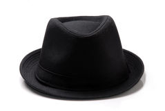 Black felt hat on white Royalty Free Stock Photo