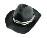 Black hat. On a white background Royalty Free Stock Images