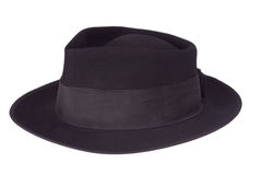 Black hat. A black hat on a white background royalty free stock photography