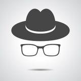 Black hat con i vetri Immagini Stock Libere da Diritti