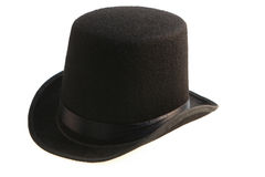 Black hat cylinder Stock Photography