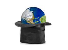 Black hat and earth Stock Photos