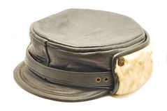 Black hat with fur Stock Photo