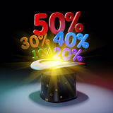 Black hat with huge discounts Stock Images