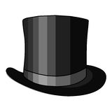 Black hat isolated illustration Royalty Free Stock Photo