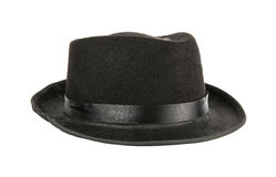 Black hat. Isolated on a white background royalty free stock image
