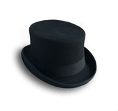 Black hat su fondo bianco Immagini Stock