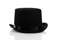 Black hat on white background stock images