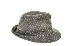Black hat with white stripe Royalty Free Stock Image