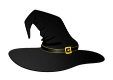 Black hat of witch Stock Photography