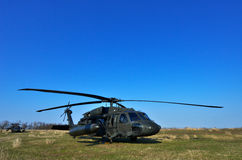 BLACK HAWK fighting helicopter Royalty Free Stock Photos