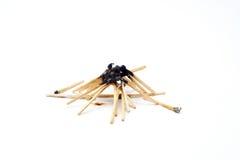 Black Head burnt matchstick bonfire Royalty Free Stock Images
