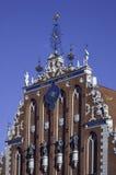 Black Head House. On market square in Riga Stock Photo