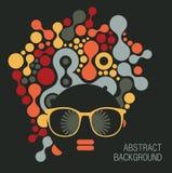 Black head woman with strange hair. Black head woman with strange pattern on her hair. Vector illustration royalty free illustration