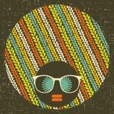 Black head woman with strange hair. Stock Image