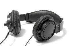 Black headphone Stock Photos
