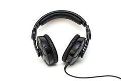 Black headphone Stock Photos