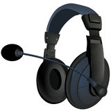 The black headphone Royalty Free Stock Photos