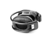 Black headphone Stock Images