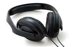 Black Headphones Stock Images
