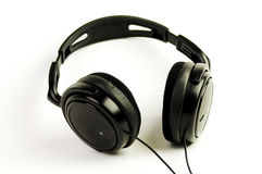Black headphones Royalty Free Stock Image