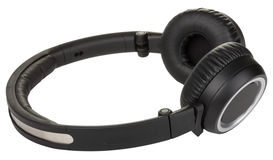 Black headphones Stock Photos