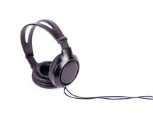 Black headphones Stock Photography