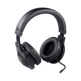 Black headphones with clipping path Stock Photos
