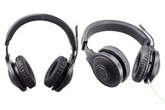 Black headphones with clipping path Royalty Free Stock Image