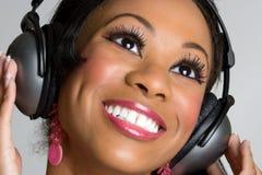 Black Headphones Girl Stock Photography