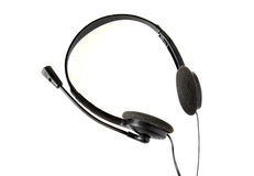 Black headphones isolated Stock Photos