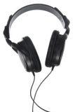 Black headphones Stock Photography
