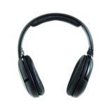 Black headphones isolated Royalty Free Stock Photos