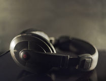 Black Headphones Royalty Free Stock Photo