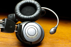 Black headphones Stock Photo