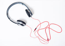 Black headphones Stock Image