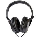 Black headphones Royalty Free Stock Images